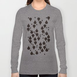 Monochrome waterdrops pattern. Long Sleeve T-shirt