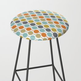 Retro Circles Mid Century Modern Background Bar Stool