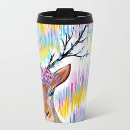 Rainbow Deer Travel Mug