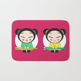 Funny Japanese Girls Bath Mat