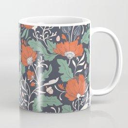 Autumn Poppy Floral Coffee Mug