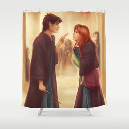 """I'd Just As Soon Kiss The Giant Squid!"" Shower Curtain"