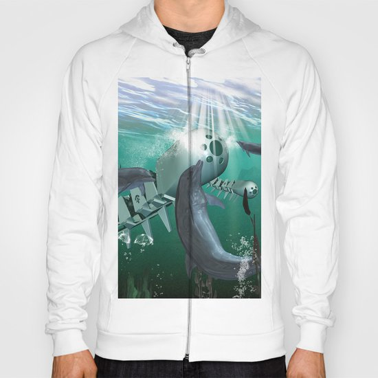 Mechanical fish and dolphins Hoody