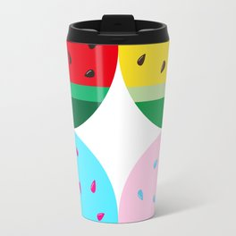 Watermelon in Fours | Watermelon Seed | Watermelon Home Decor | pulps of wood Travel Mug