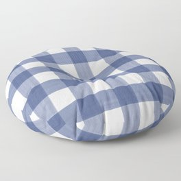 Blue Buffalo Check Floor Pillow