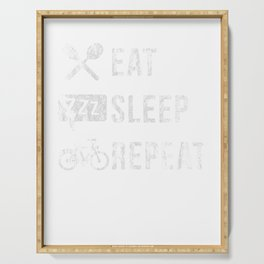 Bicycle Cyclist Bicycling Exercise Workout Eat Sleep Bicycle Repeat Cycling Gift Serving Tray