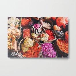 Bali Market Metal Print