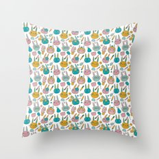 Pattern Project #14 / Bunny Faces Throw Pillow