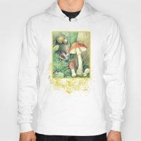 mushrooms Hoodies featuring Mushrooms by Natalie Berman