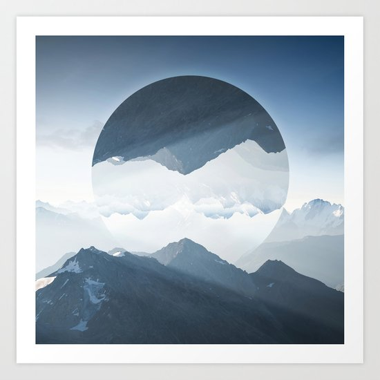 High mountain in morning time Art Print