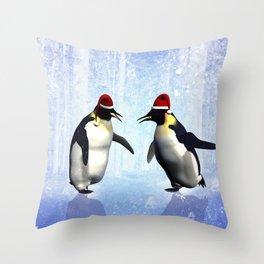 Funny penguin Throw Pillow