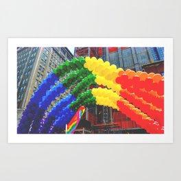 Proud Scene (LGBT Pride Parade) Art Print