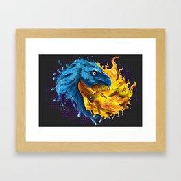 Eagles Elemental Yin Yang Framed Art Print