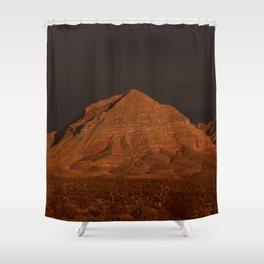 Desert Alpenglow Shower Curtain