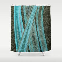 No Exit Abstract Design Shower Curtain