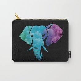 Elephant Art Abstract Colorful Carry-All Pouch