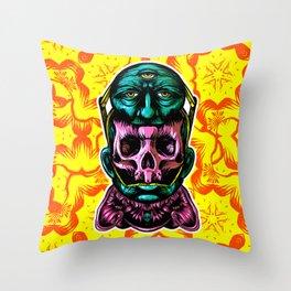 Face helmet Color Throw Pillow