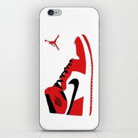 air jordan iPhone & iPod Skins featuring Air Jordan - Retro 1s by Alvarez Designs by: Mike Alvarez