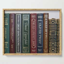 Dickens Books Serving Tray
