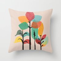 tropical Throw Pillows featuring Tropical Groove by Picomodi