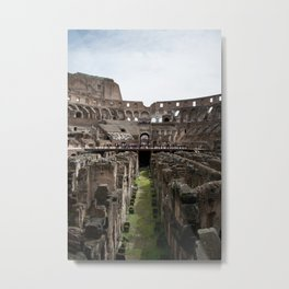 Inside the Colosseum Metal Print