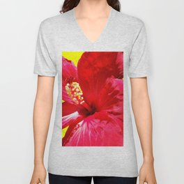 red on the yellow Unisex V-Neck