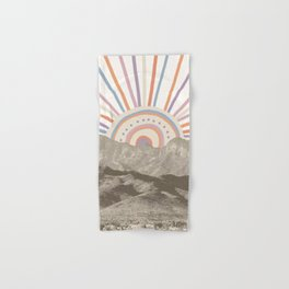 Summerlin Mountain Up // Abstract Vintage Mountains Summer Sun Surf Beach Vibe Drawing Happy Wall Ha Hand & Bath Towel