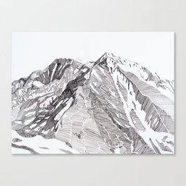 Sopris Summit Canvas Print