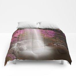 Pink Glencar Falls Comforters