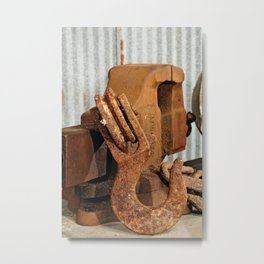 Hook and Vise Metal Print
