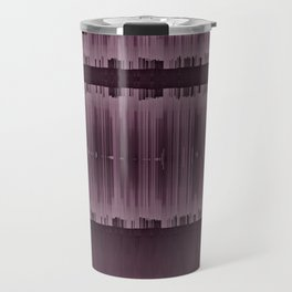 Burgundy Glitch Art Design Travel Mug