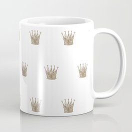 Vintage Crown Pattern Coffee Mug