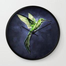 Green Hummingbird Wall Clock