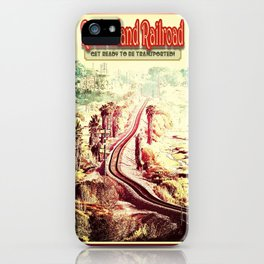 Rock Island Railroad Poster iPhone Case