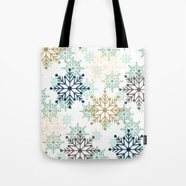 Christmas pattern with snowflakes. Tote Bag