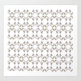 Plushie Unicorn Pattern Art Print