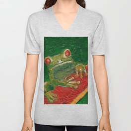 Red Eyed Frog Unisex V-Neck