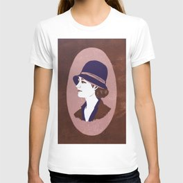 1920s Lady (linocut) T-shirt