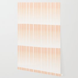 Dissolving Stripes Pattern in Soft Light Peach Wallpaper