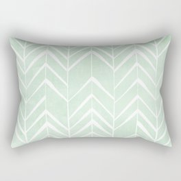 Mint Chevron Arrows Rectangular Pillow