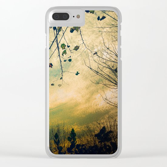 Christmas Tree at Dusk Clear iPhone Case