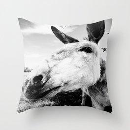 Donkey Throw Pillow