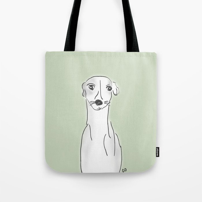 Daisy, the Greyhound Tote Bag