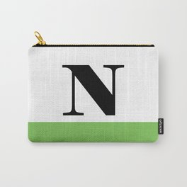 Monogram Letter N (color block) Carry-All Pouch