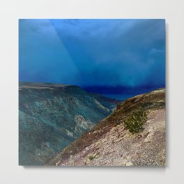Storm at Sunset in Death Valley, California Metal Print