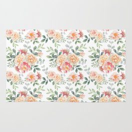 Pink roses bouquets Rug