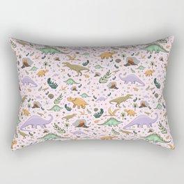 Pretty Dinosaurs Rectangular Pillow