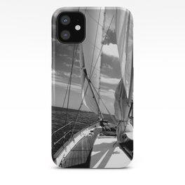 Black - white sailboat details | Annapolis, MD iPhone Case