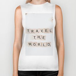 Travel the world Biker Tank