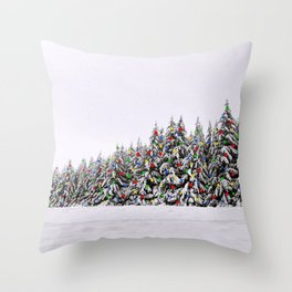 Festive Collage Throw Pillow